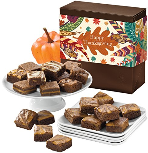 Fairytale Brownies Thanksgiving Pumpkin Spice Magic Morsel 24 – 1.5 Inch x 1.5 Inch Bite-Size Brownies – 24 Pieces