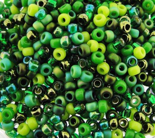 Miyuki Round Seed Beads Size 8/0 22g Evergreen ()