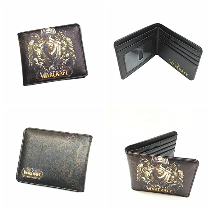 e4acc502aa1e Blue Heron World of Warcraft Lion Crest WOW Bifold Men's Boys Wallet w/Gift  Box