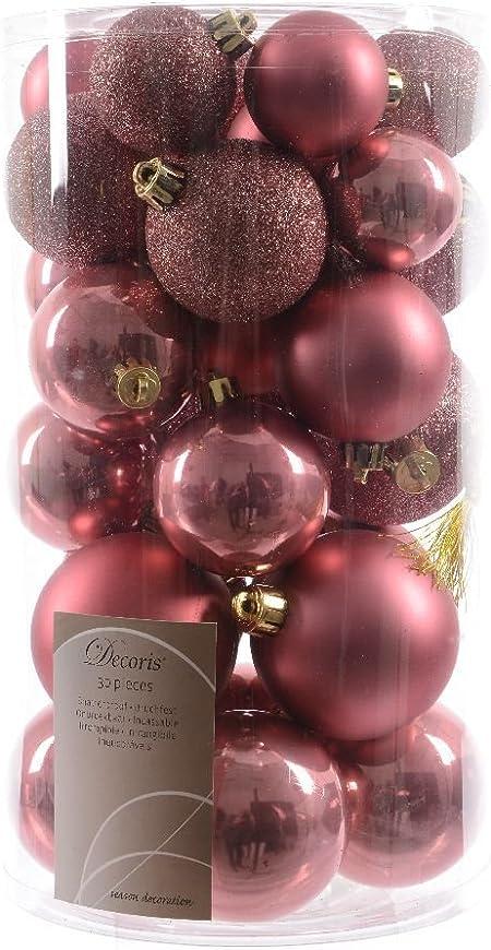 Addobbi Natalizi Rosa.30 Palline Opaco Lucido Glitterato Rosa Quarzo Albero Di Natale Addobbi Amazon It Casa E Cucina