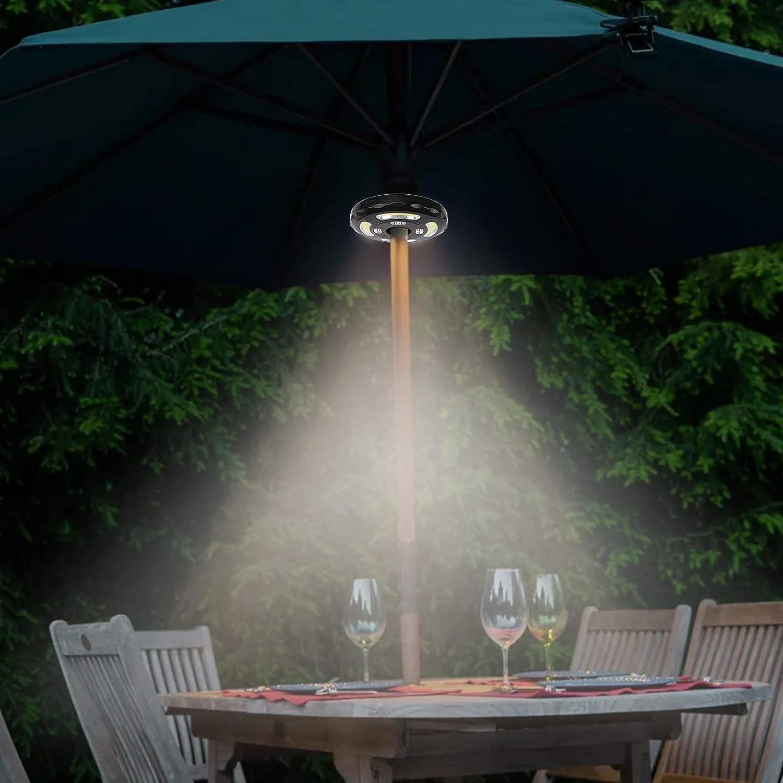 Parasol Lights LED Umbrella Lights 3 Models Parasol Lights Patio Umbrella USB Rechargeable Waterproof Parasol Light for Long Time Use