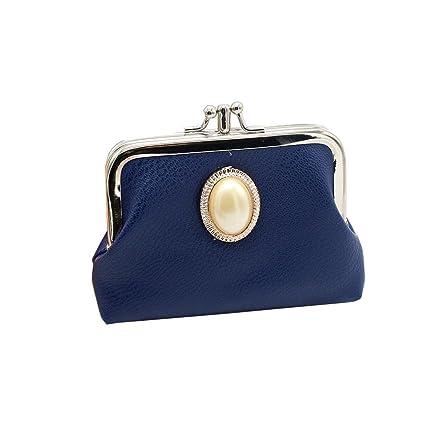Cartera de Mujer pequeña Piel Monedero de Elegante y Moda Azul para Niña por ESAILQ R