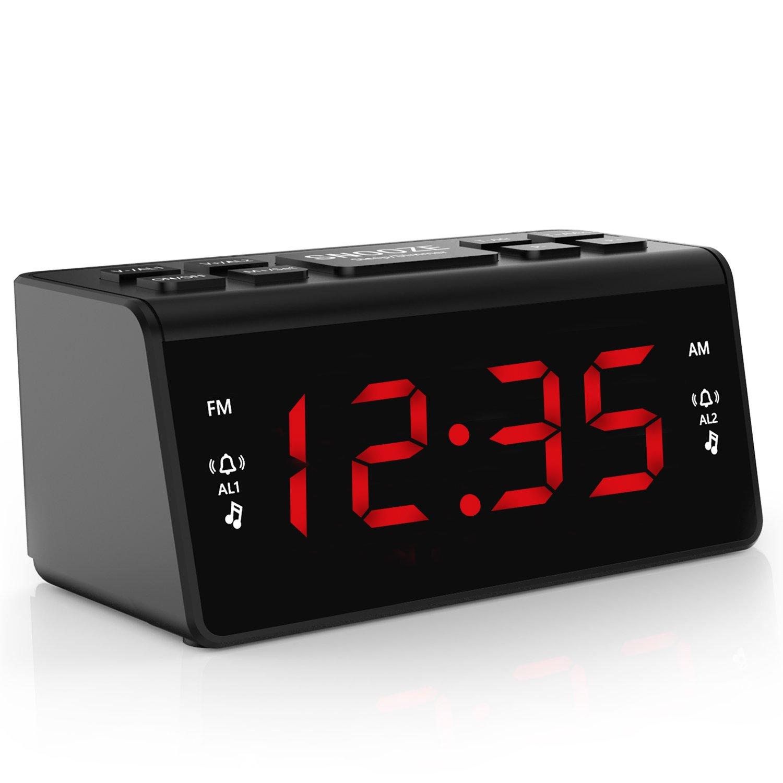 Digital FM AM Radiowecker Uhr Mit Nachtlicht-Funktion, Easy Snooze, Dual Alarm, Sleep-Timer – Anpassbare Helligkeitsregulierung (AT-48) product image
