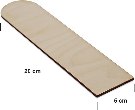 Craft Sales LTD 10 x Piatto IN LEGNO SEGNALIBRI Non verniciati Forme Etichette Per Regalo DECOUPAGE ARTISTICA ARTIGIANALE BP