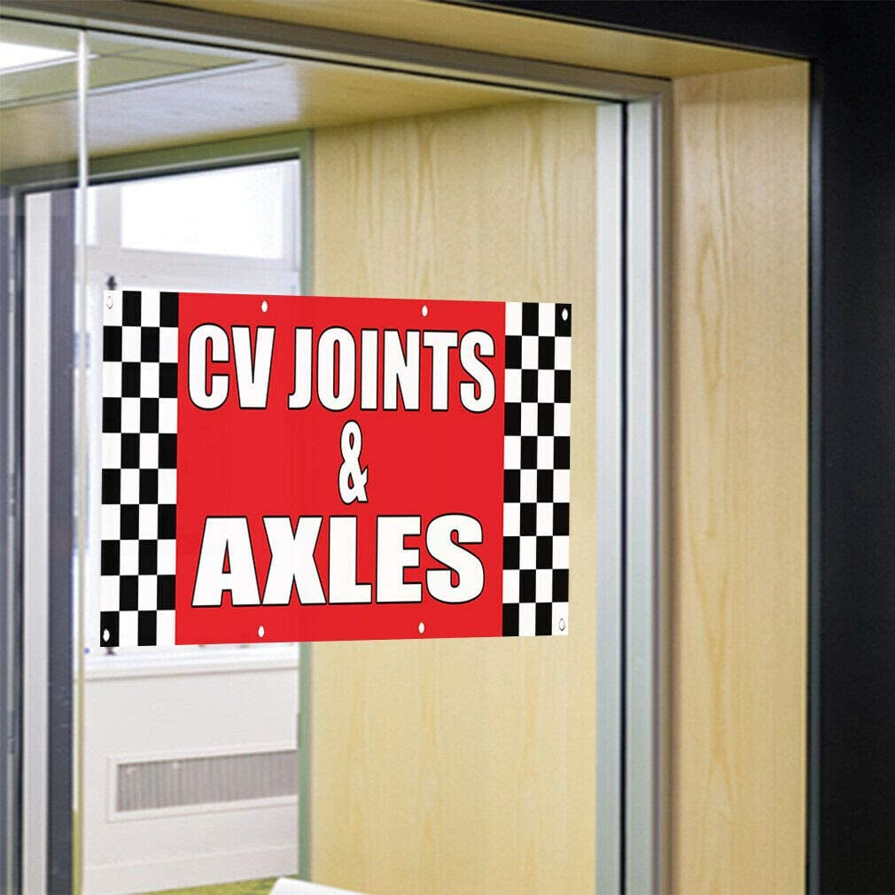 Decal Sticker Cv Joints /& Axles Auto Body Shop Car Repair Automotive Store Sign-34inx22in