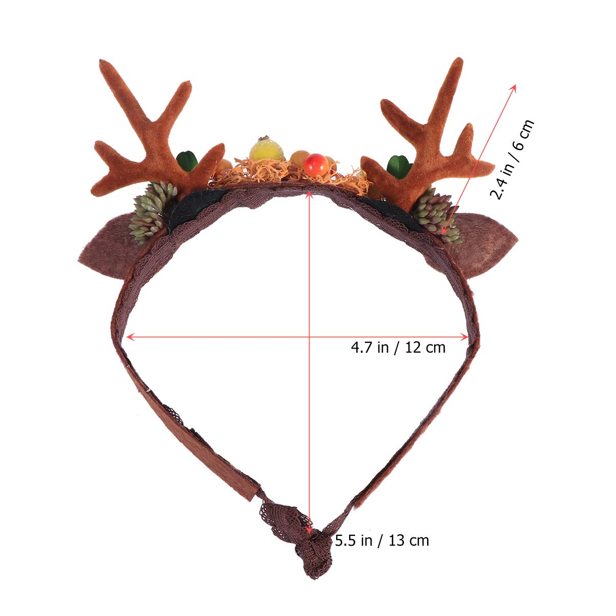 Toyvian Antlers Headbands Deer Hair Hoop Party Hair Accessory with Lace Lining for Baby Photography