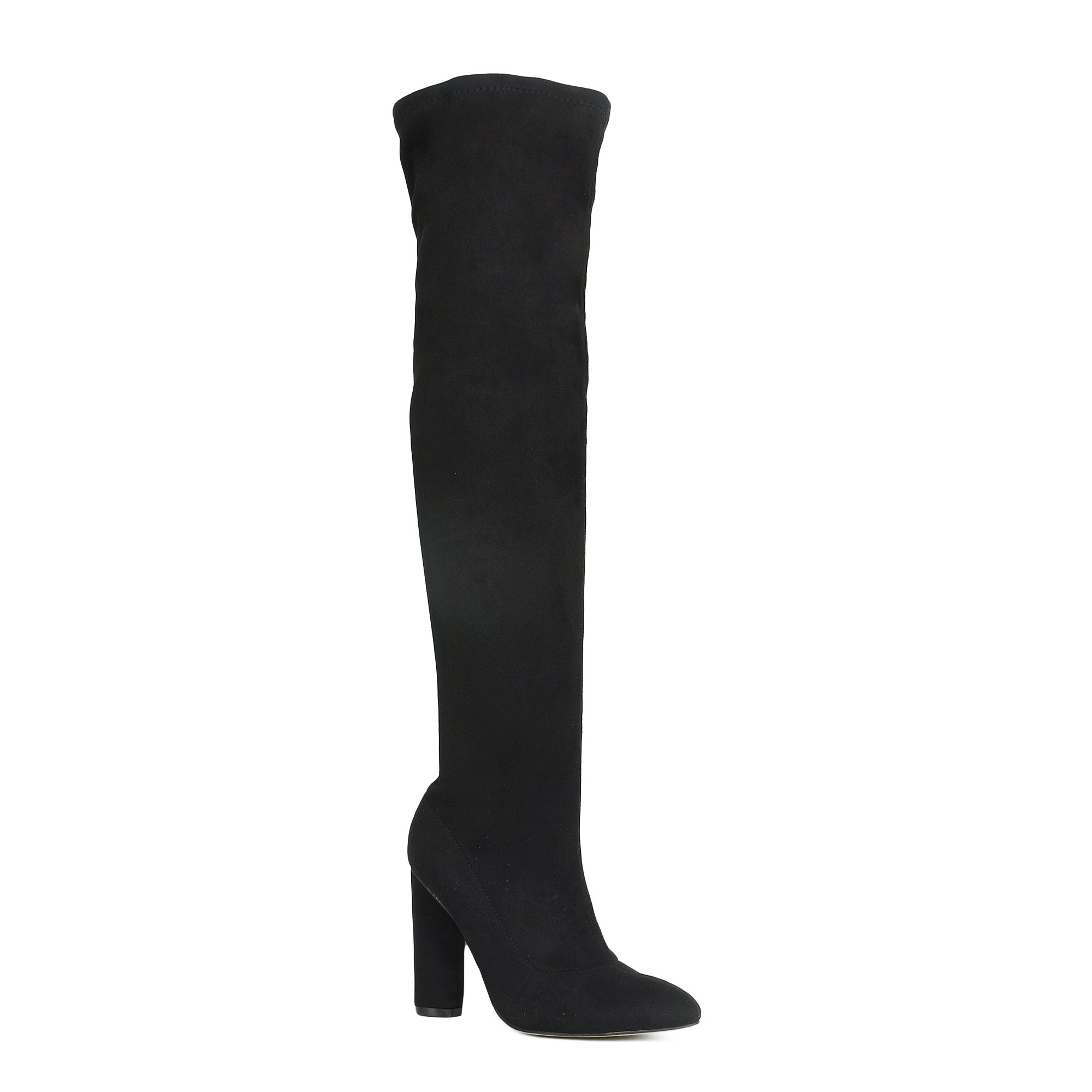 Women's Over The Knee Boots Chunky Block Heel Thigh High Boots Fashion Dress Boots Black 7