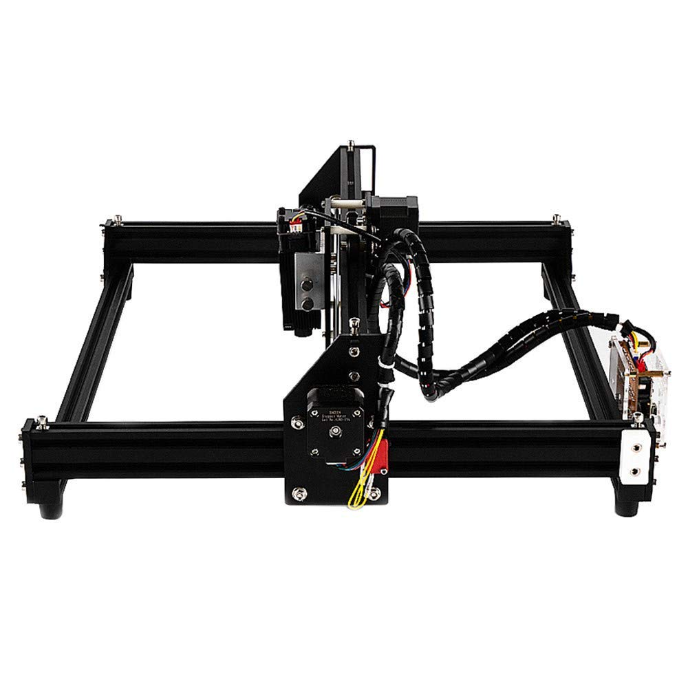 35cm Bricolaje Mini m/áquina de tallado l/áser USB Para grabado de motor de husillo y grabado l/áser S SMAUTOP 4035B Kits de grabado l/áser CNC 2 ejes M/ódulo de 2500mW Los 40