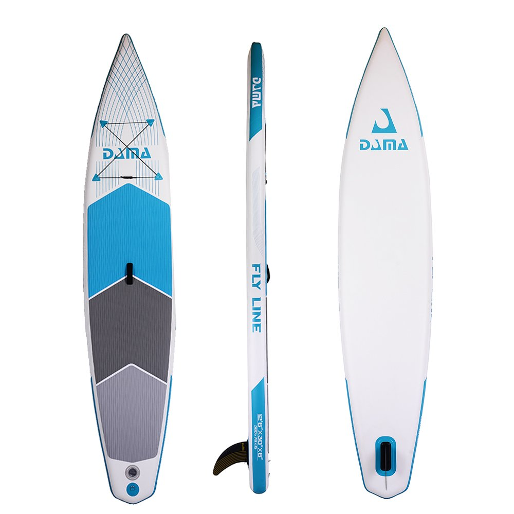 DAMA Flyline Inflatable Racing Stand Up Paddleboard 12 30 SUP Package Yellow Water Yoga Blue DAMA-SUP yello