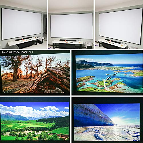 Projector Screen Material Fabric 57x94 inch for Max 100 inch 16:9 Projection Screen DIY, Black Backing 4K Ultra HD Front Projection EPPE Polymer Material (White)