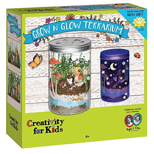 Gifts For Kids - Creativity for Kids Grow 'n Glow Terrarium - Science Kit for Kids