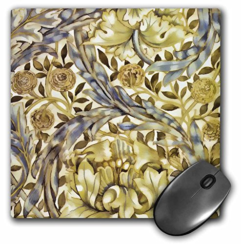 3dRose LLC 8 x 8 x 0.25 Inches Mouse Pad, (Marigold Pattern)