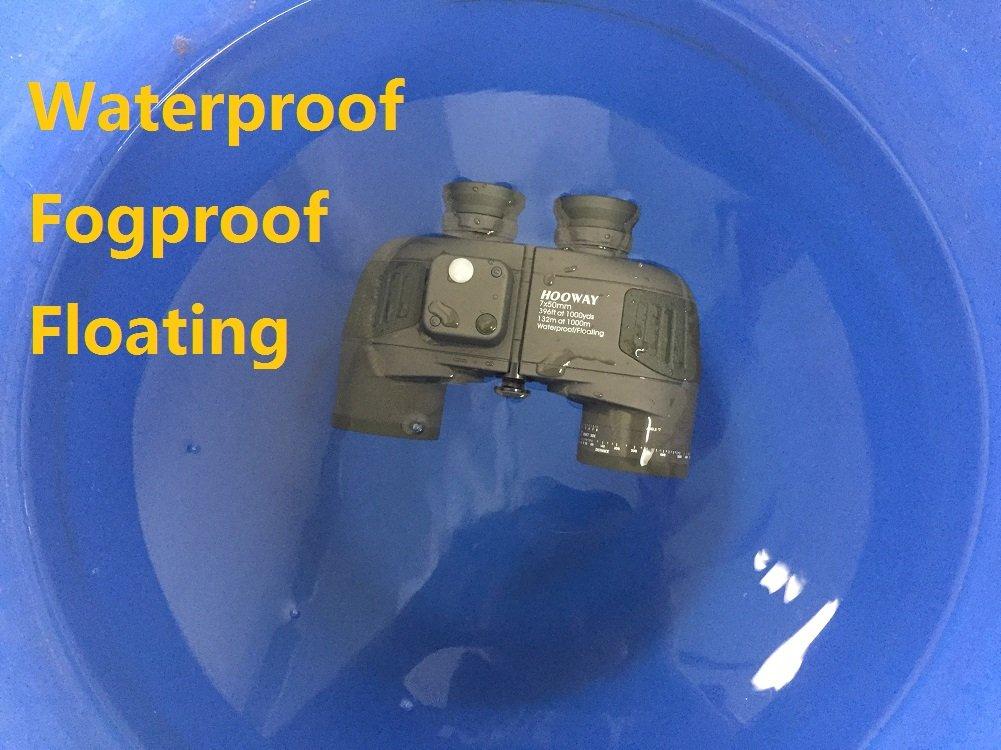 hooway 7/x 50/Marine Porro prism/áticos con tel/émetro interior /& compass-waterproof niebla /& flotante