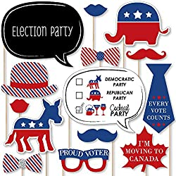 Big Dot of Happiness Election - Political Party Photo Booth Prop Kit - 20 Count