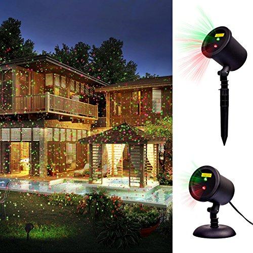 Outdoor Lamp Decoration: Decolighting Star Laser Christmas Light Show Outdoor