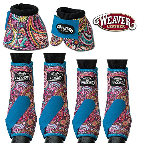 Weaver MED HORSE FRONT REAR LEG 2520D BELL PRODIGY SPORTS BOOTS 6 PACK PAISLEY -