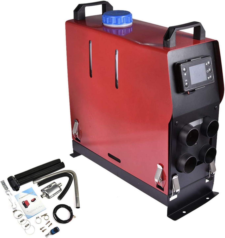 12V 5KW Calentador di/ésel de Aire para veh/ículos y Barcos de Cuatro Orificios con Pantalla y Control Remoto cami/ón papasbox Calentador para estacionamiento de autom/óviles bater/ía para autom/óvil