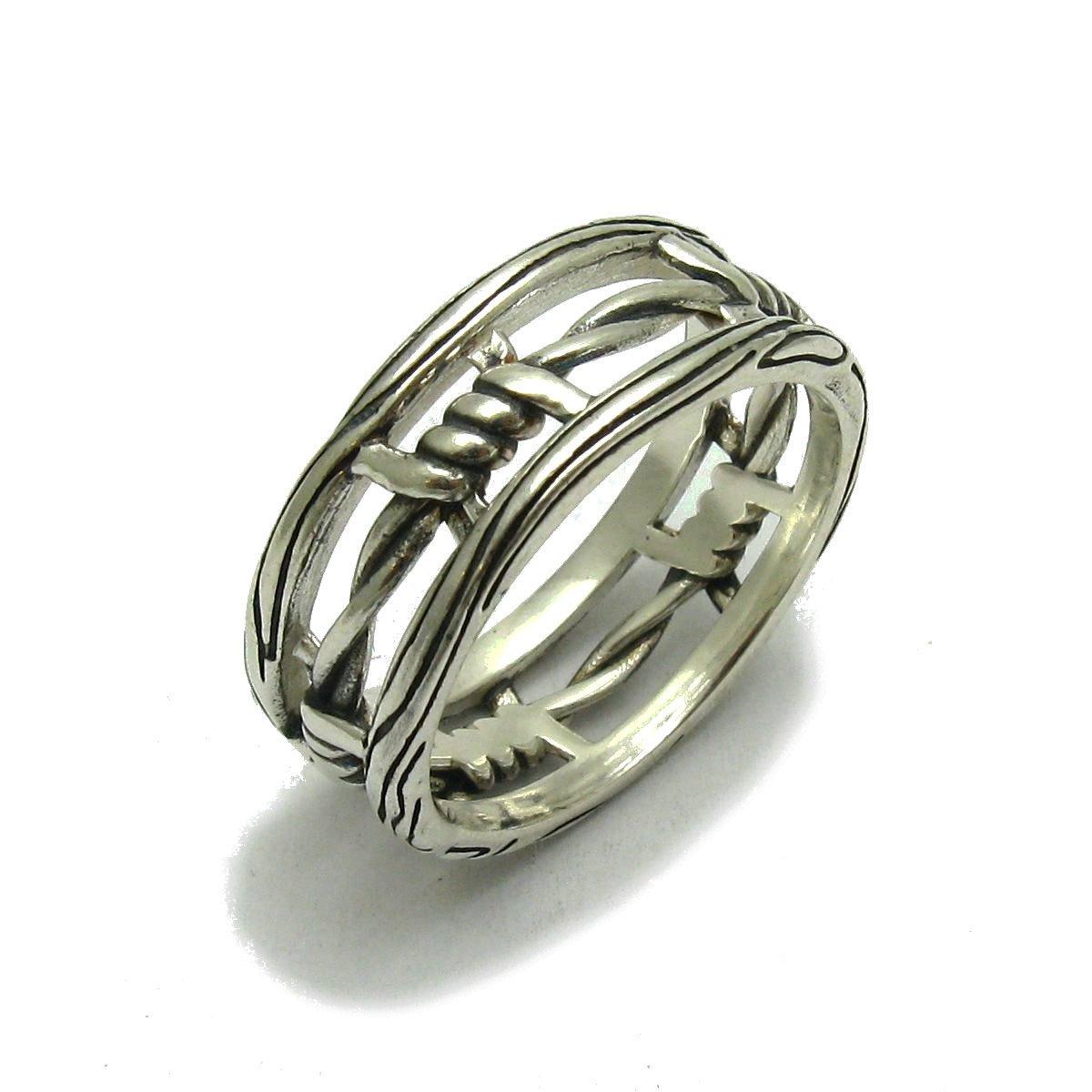 Anello fascia in Argento 925 Filo spinato R001736