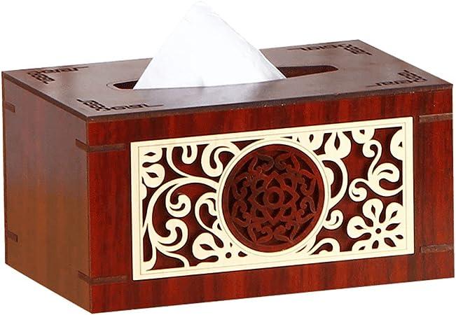 Caja De Pañuelos Caja De Pañuelos De Papel Caja De Madera Caja De Almacenamiento De Cartón Bomba De Papel Familia Restaurante Caja De Dormitorio Caja De Cartón Toalla (Tamaño : A): Amazon.es:
