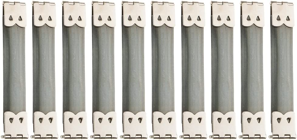 Sharplace 10 Pieces Flex Purse Frame Internal Flex Spring Clip for Purse Making Supplies DIY Bronze 8 x 1.4cm