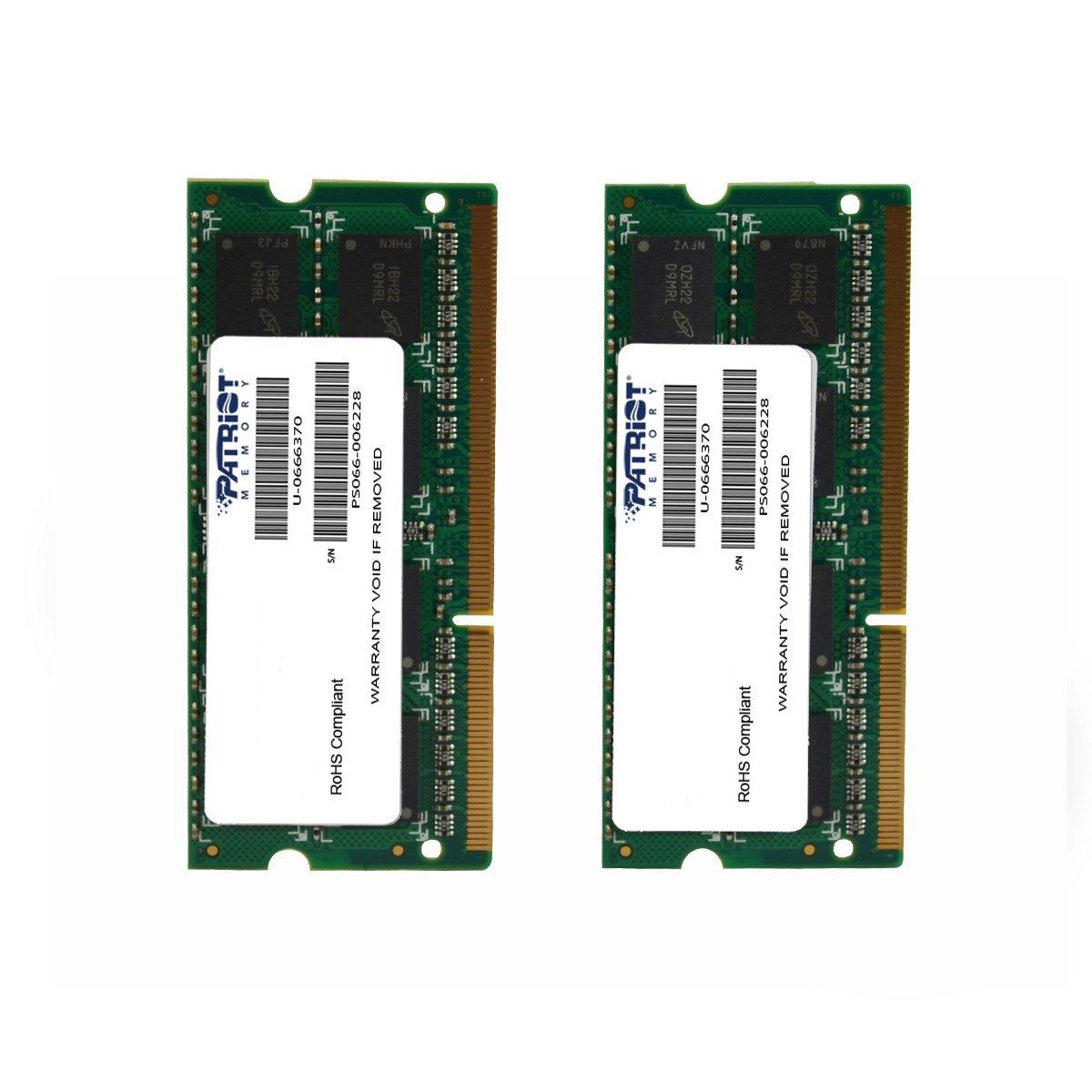 Patriot Mac Series 8GB Apple SODIMM Kit (2X4GB) DDR3 1333 PC3 10600 204-Pin SO-DIMM PSA38G1333SK