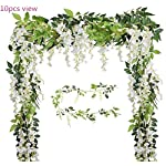 Malkas-Wisteria-Garland-4-Pack-66ftPiece-White-Artificial-Hanging-Silk-Home-Garden-Outdoor-Party-Wedding-Arch-Festive-Decor