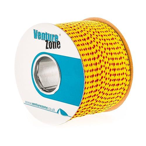 VentureZone Premium Throw-Line 8mm Diameter, Buoyant and UV Resistant, Red/Yellow – 1, 2, 5, 20 Metre Lengths
