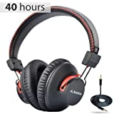 Avantree Audition 40 hr Bluetooth Over Ear Headphones with Microphone for PC Computer Phone Call