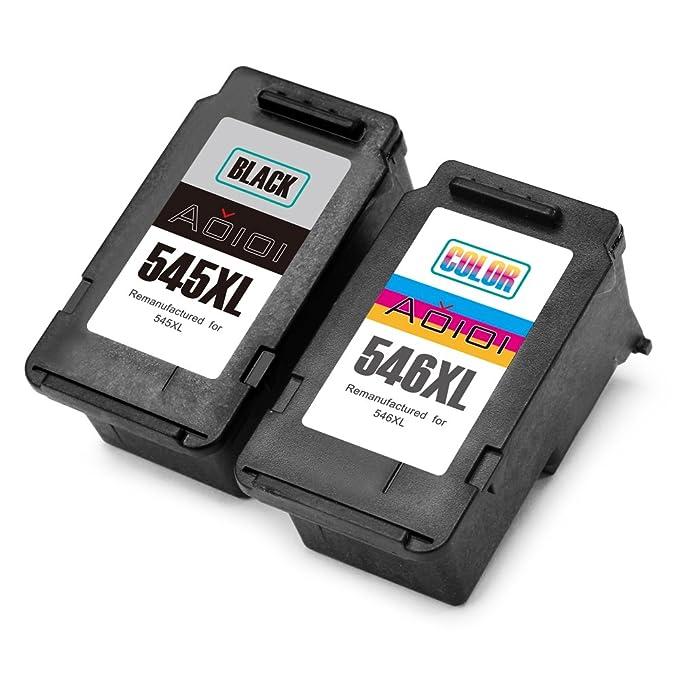 Aoioi PG545 PG-545 PG-545XL Compatiable Cartuchos de tinta 2 Negro Alta Capacidad con PIXMA MG2450 MG2550 MG2550S MG2555 iP2850 MG2900 MG2950 MG2950S ...