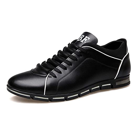 65a5d3b62b Leather Oxford Shoes Men Lace Up Round Toe Sport Shoes Classic Comfortable  Modern Formal Business Dress