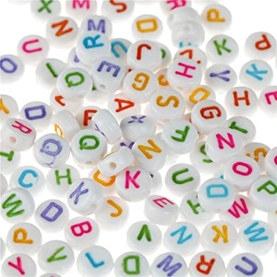 Xucus 100pc Alphabet Letter Food Grade Silicone Chewing Beads for Teething Necklace in 26 Letters BPA Free FDA Silicone Letter Beads: Garden & Outdoor