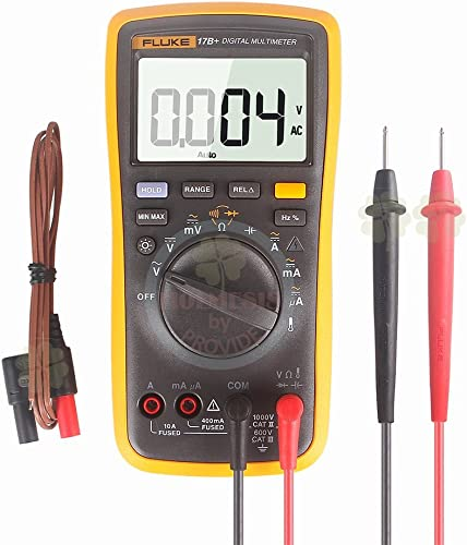 FLUKE 17B Digital Multimeter w Temperature Frequency CARRYING CASE INCLUDED