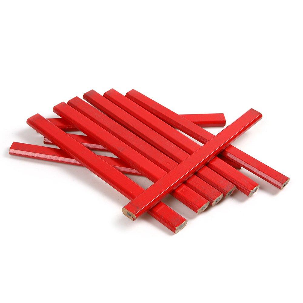 Atoplee 50 Pcs/5 Sets Black Refills Non-toxic Carpenter Pencil