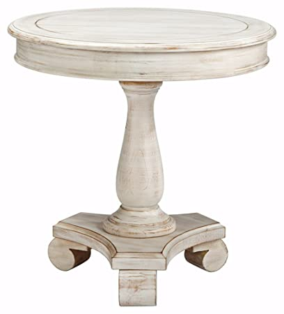 Bon Ashley Furniture Signature Design   Mirimyn End Table   Cottage Style Accent  Table   Chipped White