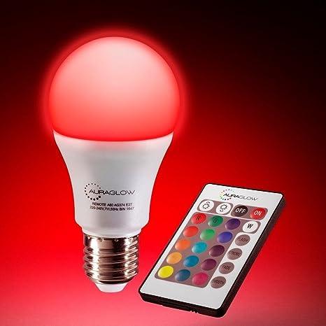 Bombilla LED de 7W, E27, 60W, con mando a distancia que cambia de