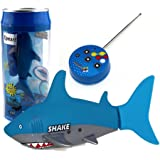 Tipmant Mini Remote Control Toy Electric RC Fish Boat Shark Swim in Water Kids Gift - Blue