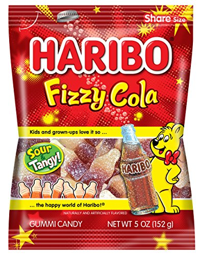 Haribo Gummi Candy, Fizzy Cola, 5 oz. Bag (Pack of 12)