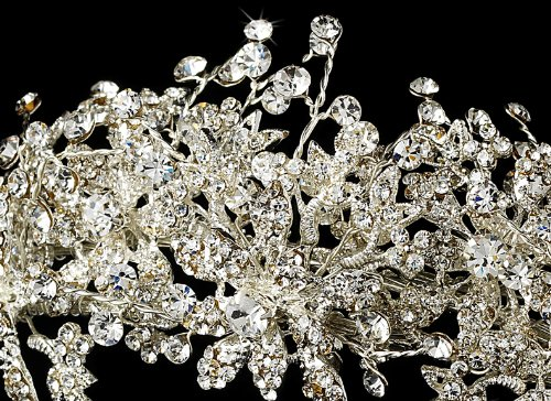 Hortense Couture Crystal Wedding Bridal Tiara