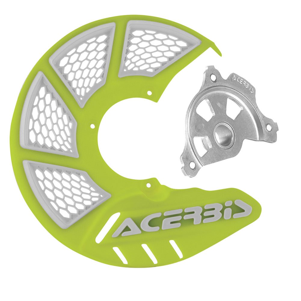 Acerbis X-Brake Vented Front Disc Cover with Mounting Kit Flo Yellow/White – Fits: KTM 300 XC-W Six Days 2016–2018