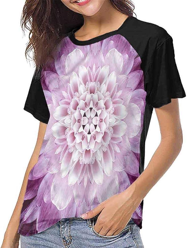 Casual Blouses Tops,Flower,Botanical Nostalgic S-XXL Women Short Sleeve T-Shirt