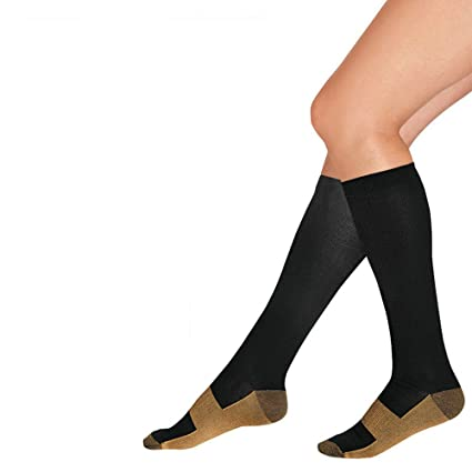 2bda79fde6 Amazon.com: Copper Infused Compression Socks 5 Pack - 5 Days of Foot  Comfort and Support with improved circulation..: Garden & Outdoor