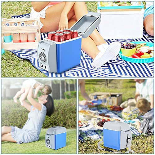 BISOZER Portable 7.5L Mini 12V Car Refrigerator Freezer Dual-Use Home Travel Vehicular Car Fridge Dual-Mode Temperature Control Dual-use by BISOZER (Image #6)