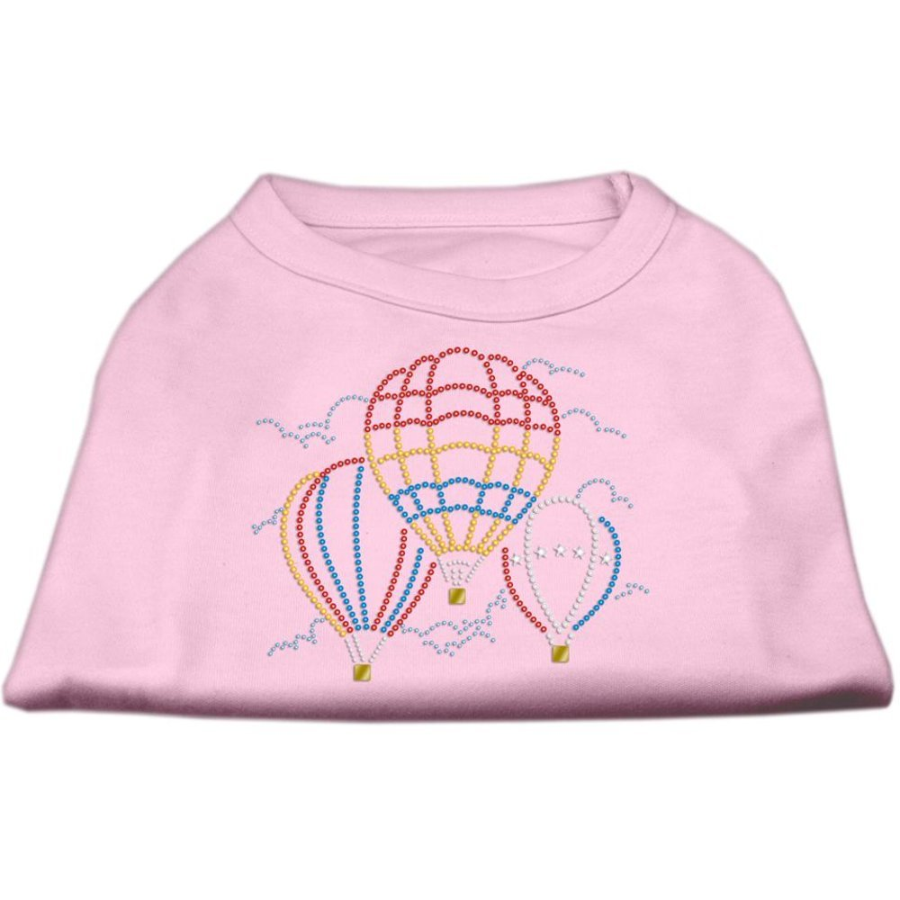 Mirage Pet Products Hot Air Balloon Rhinestone Pet Shirt, Large, Light Pink