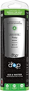 Replacement for Refrigerator Water Filter EveryDrop Filter 4 by Whirlpool - 1 Pack