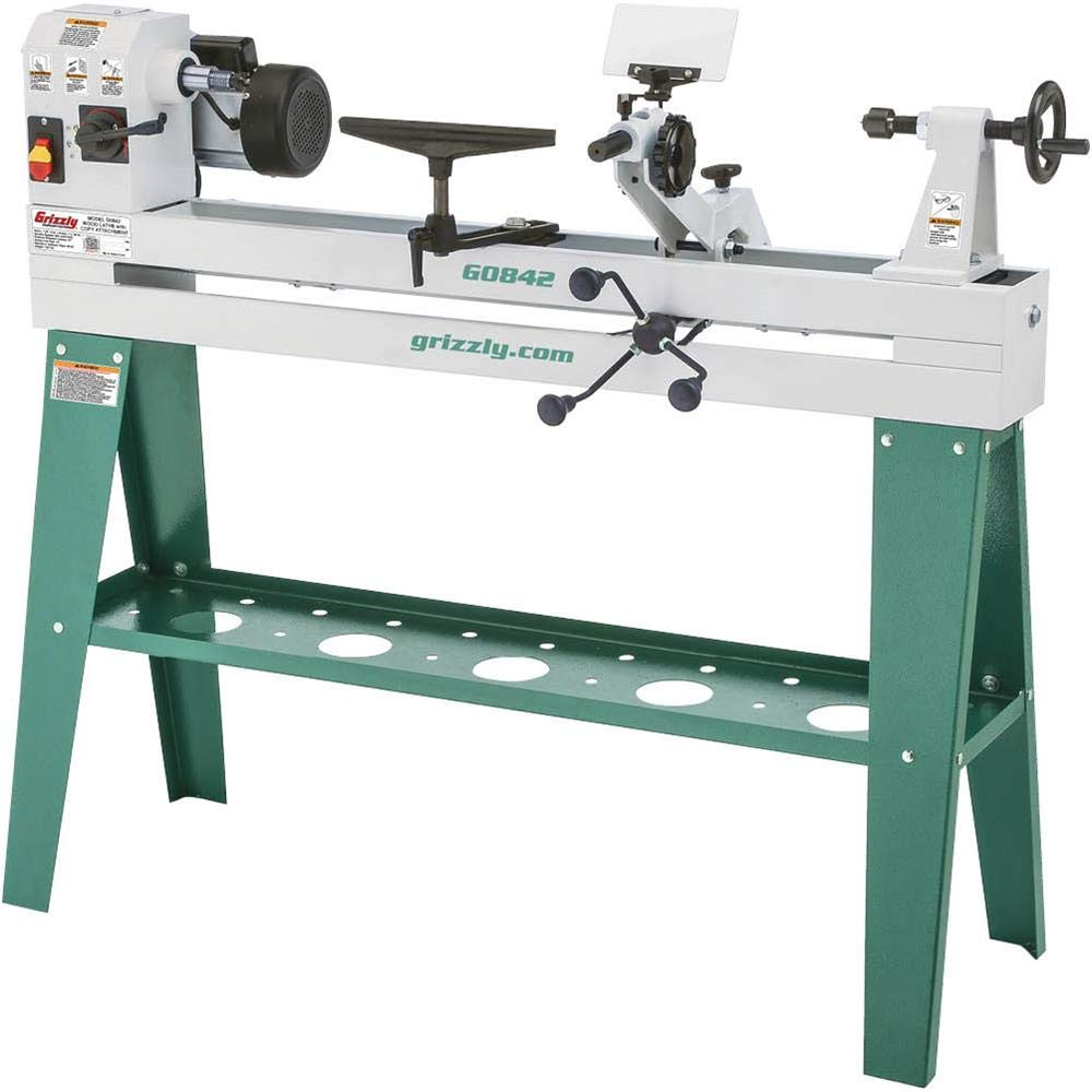 Grizzly Industrial G0842-14'' x 37'' Wood Lathe with Copy Attachment by Grizzly Industrial