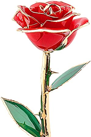 ZJchao Yellow Gold Rose Best Gift for Long Stem 24k Rose Dipped Rose Flower