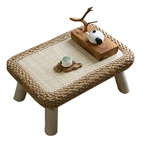 Amazon.com: Mesa de café Zhuo de mimbre para ventana ...