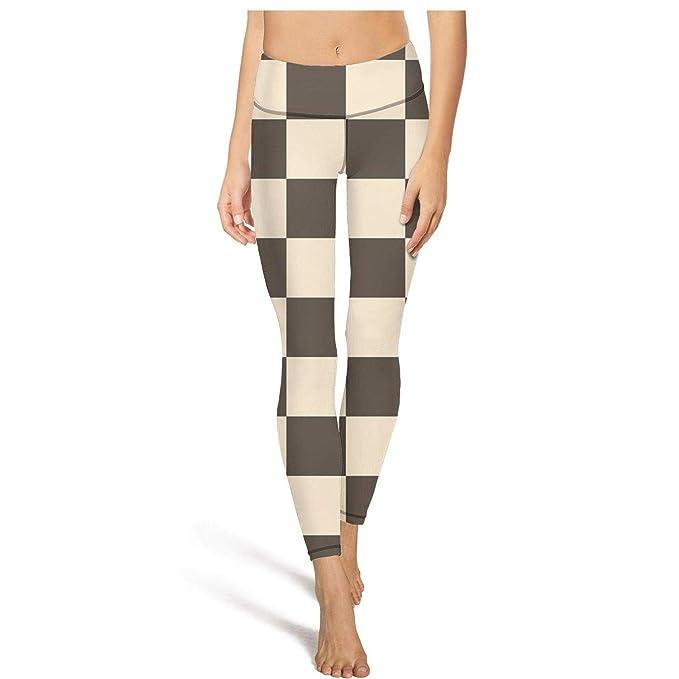 Amazon.com: Pantalones de yoga de cintura alta con estampado ...