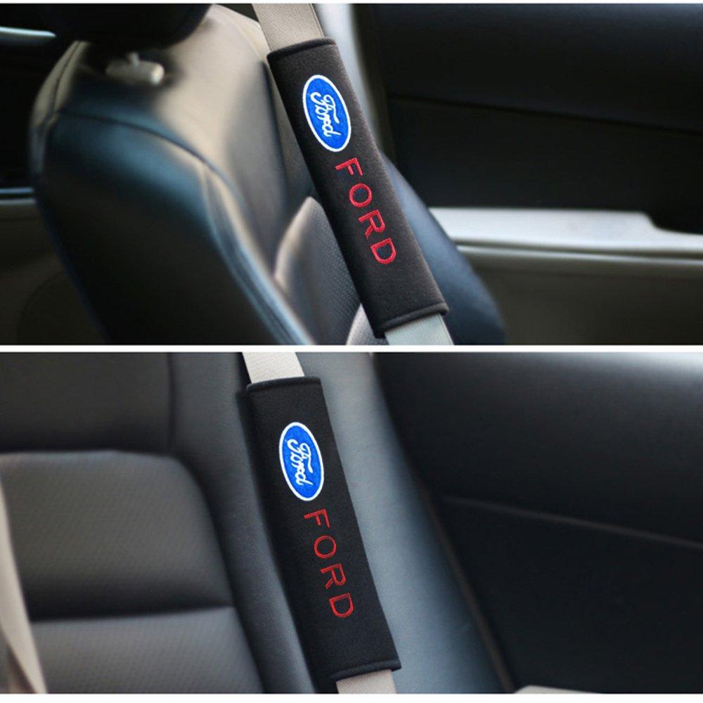 2Pcs Ford Auto Voiture Coussin de Prot/ège Ceinture de S/écurit/é de V/éhicule Confortable Protection Epaule Ford