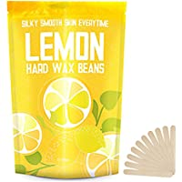 Yeelen Hard Wax Beans Hot Wax Beads 1.38lb Lemon Essential Oil for Facial Body Brazilian Bikini Hair Removal At Home Waxing